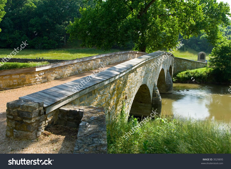 Burnside Bridge Antietam Battlefield Sharpsburg Maryland Stock.