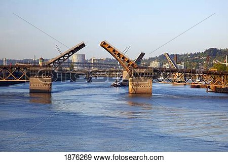 Portland Brige Clipart.