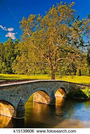 Stock Images of Burnside Bridge, along Antietam Creek in Antietam.