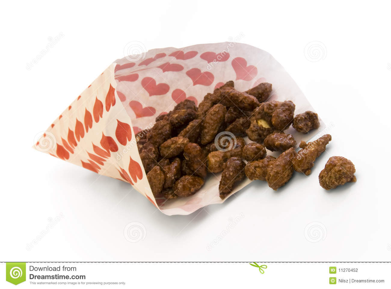 Fun Fair Sweets Roasted Almonds Stock Photography.