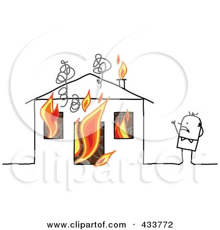 Burning House Clipart#2070021.