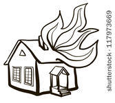 Clip art page burning.