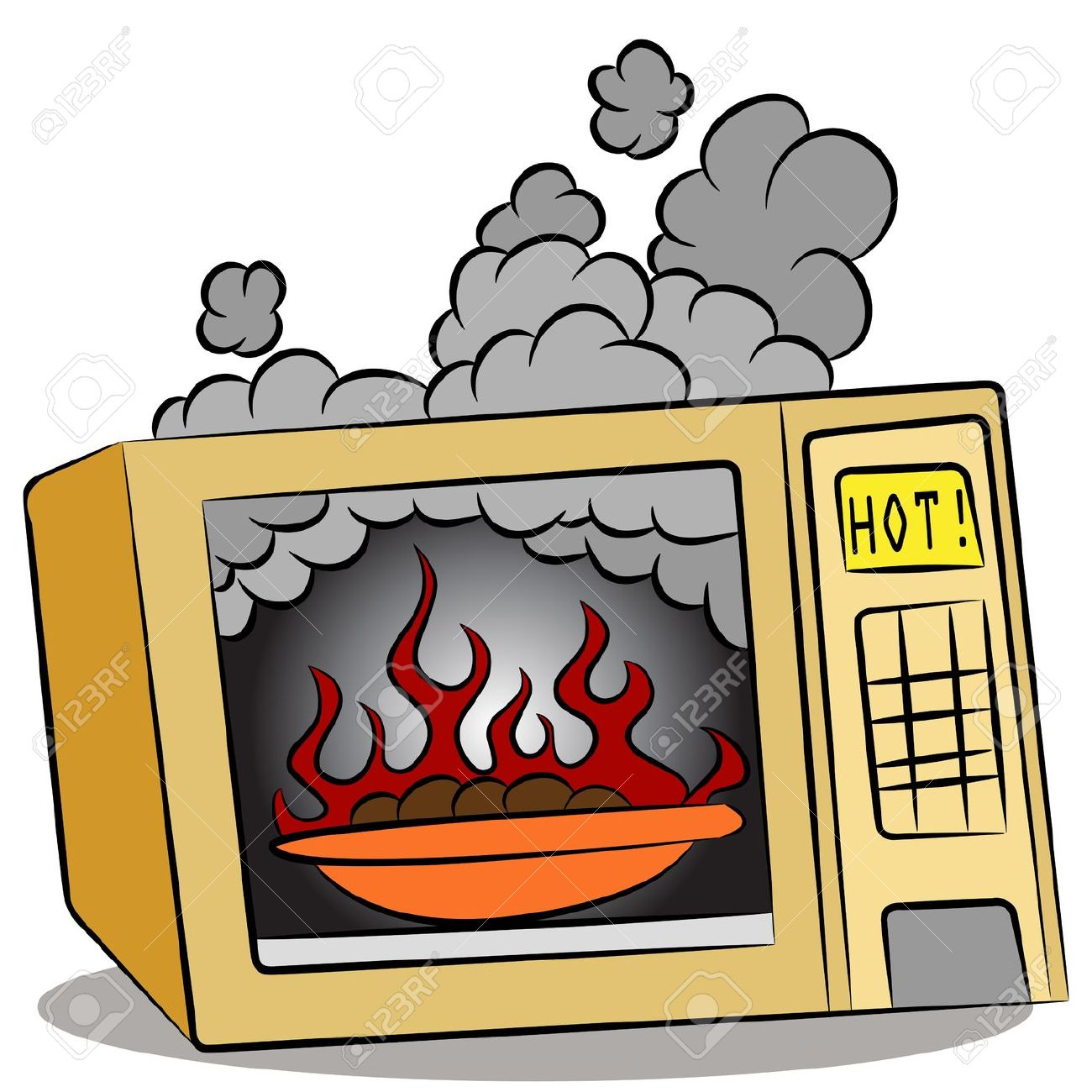An Image Of Food Burning In A Microwave Oven. Royalty Free.