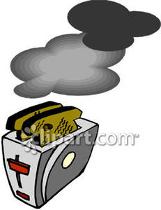 Toast In a Toaster Royalty Free Clipart Picture.