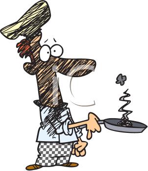 Burnt food clipart.