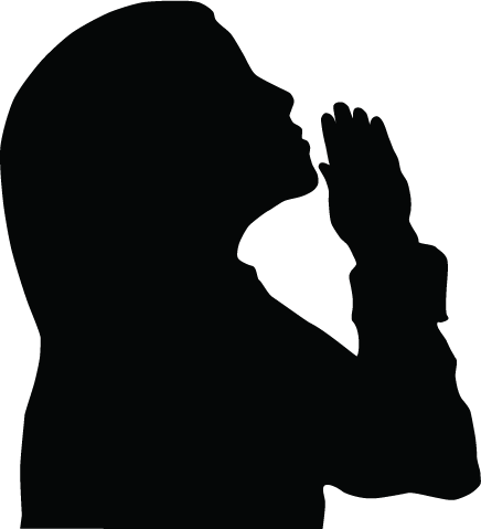 Silhouettes Of Clipart Info Prayer