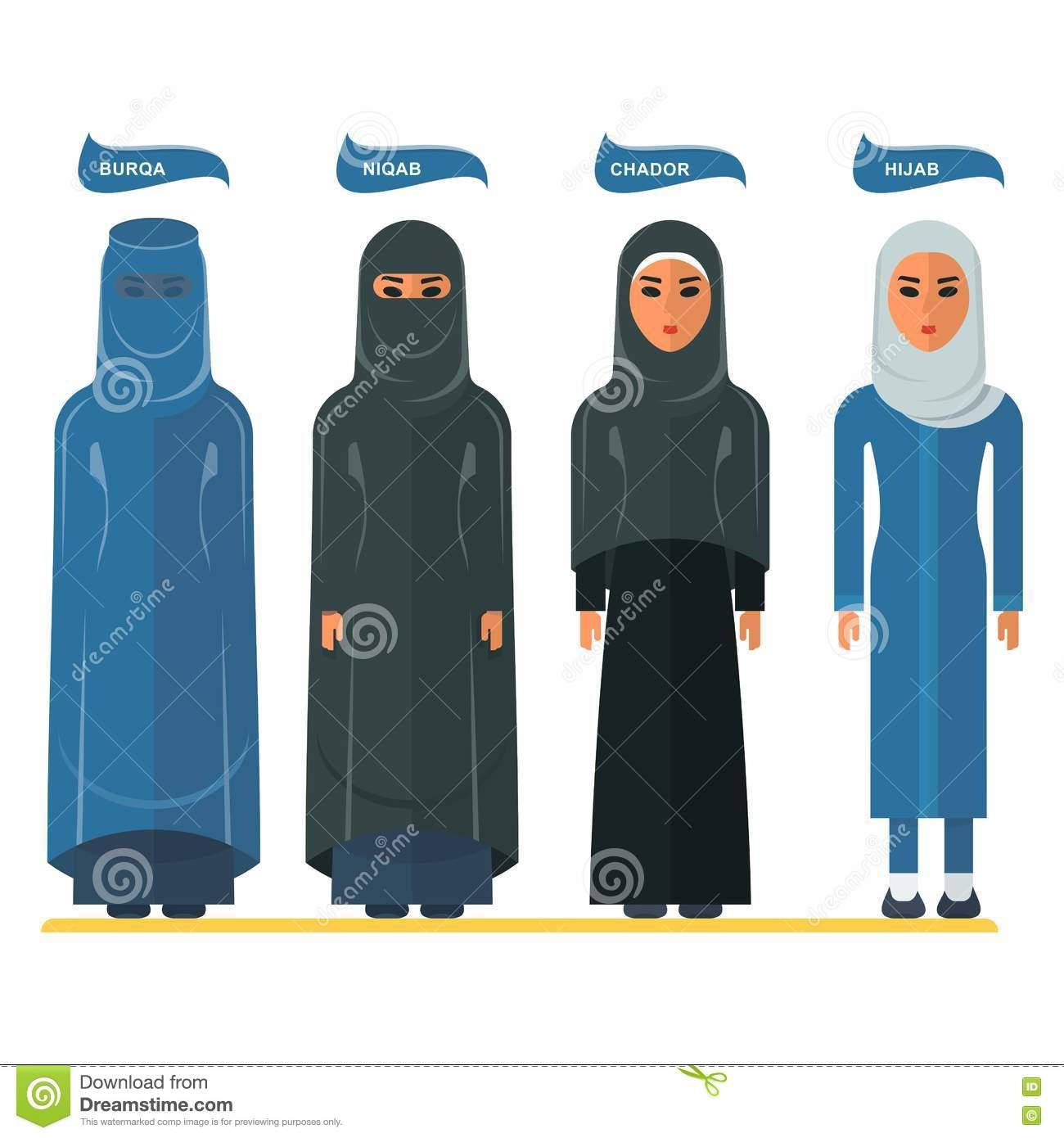 Burka Stock Illustrations.