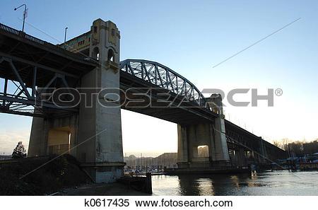 Stock Image of Burrard Street Bridge k0617435.