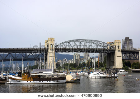 Burrard Bridge Stock Photos, Royalty.