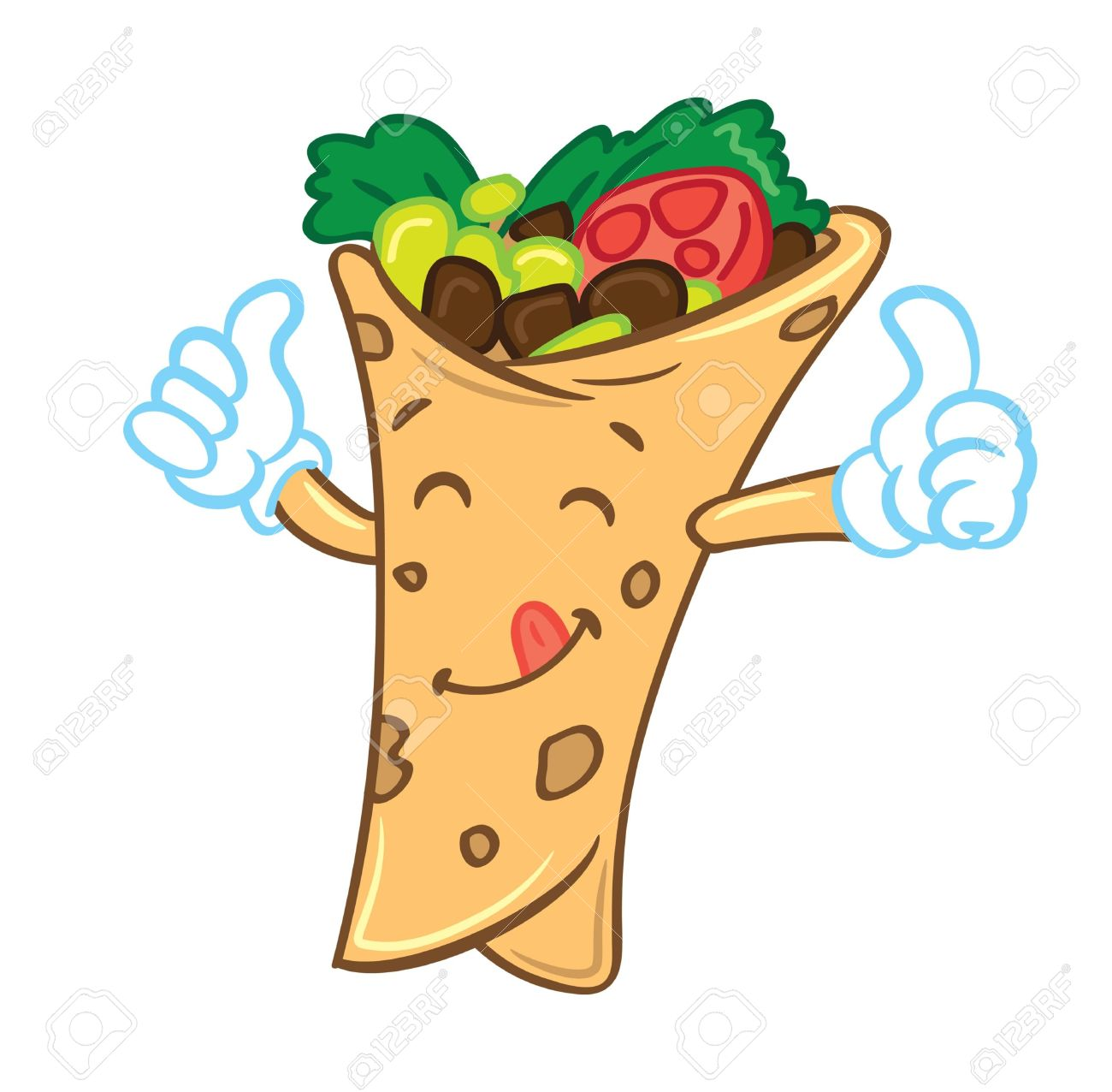 Breakfast burrito clip art.