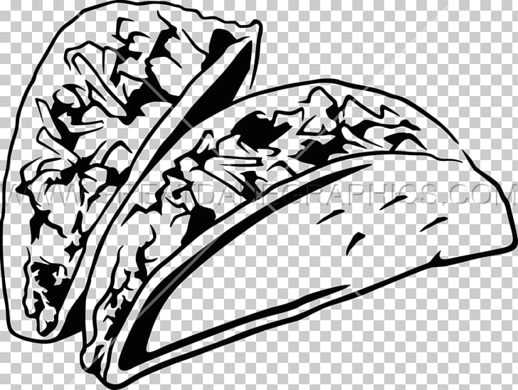 Black and white Taco Mexican cuisine Burrito , others PNG.