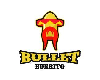 Bullet Burrito Logo design.