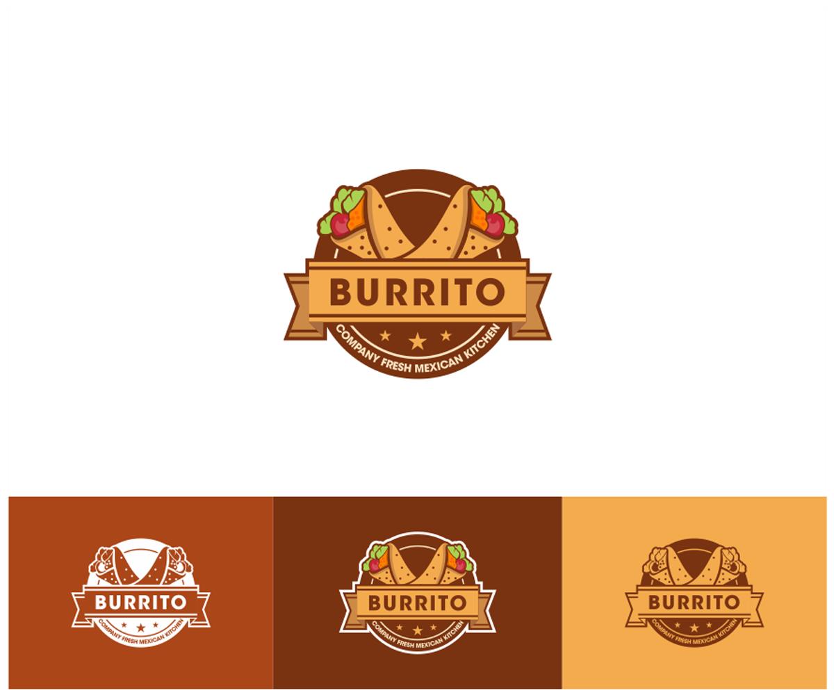 Mexican Restaurant Logo Design for el Burrito la MexCina.