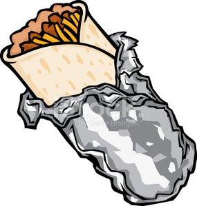 cartoon burrito Clipart Image.