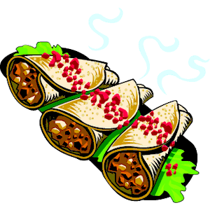 Burritos 1 clipart, cliparts of Burritos 1 free download (wmf, eps.