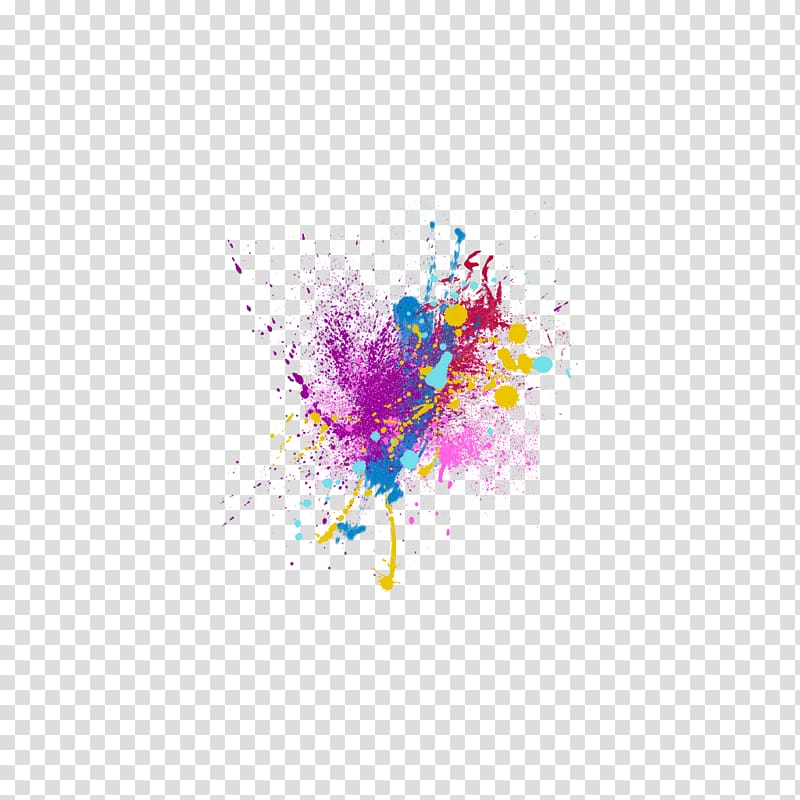 Multicolored abstract painting, Sticker PicsArt Studio Color.