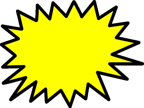 Yellow Star Burst clip art.