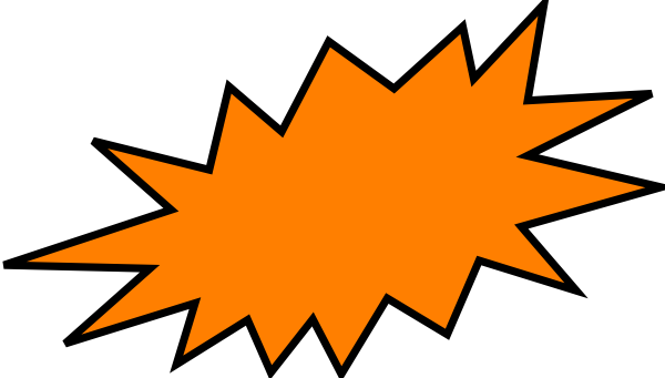 Orange Burst Clip Art at Clker.com.