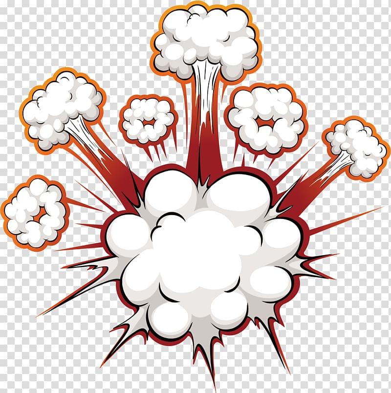 Comics Explosion Speech balloon, Bomb blast effect, cloud.