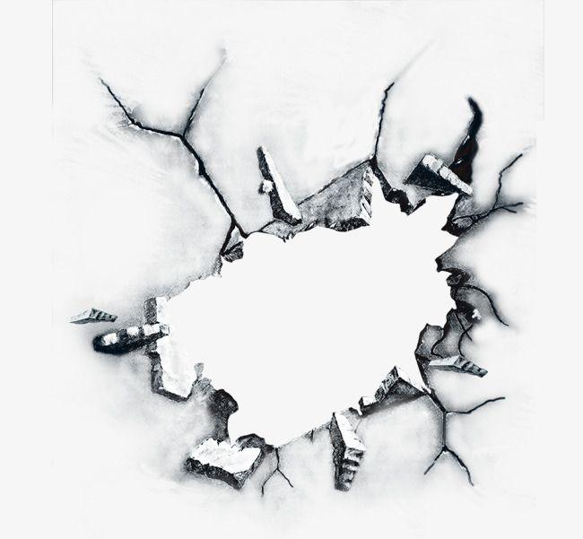 Burst Effect, Wall Rupture, Fragment, Breaking Effect PNG.