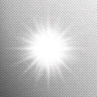 White Glowing Light Burst EPS 10 stock vectors.