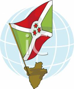 Clipart Picture of the Burundi Flag.