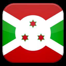 Burundi Flag Icon, PNG ClipArt Image.