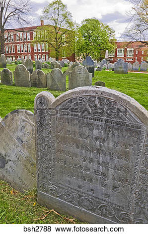 Pictures of Tombstones at Copp's Hill Burying Ground on the.