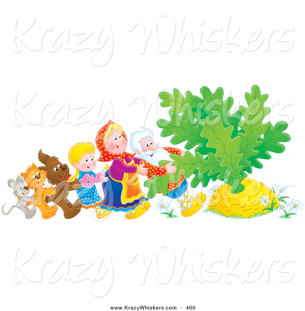 Critter Clipart of a Mouse, Cat, Dog, Girl, Woman and Man Trying.