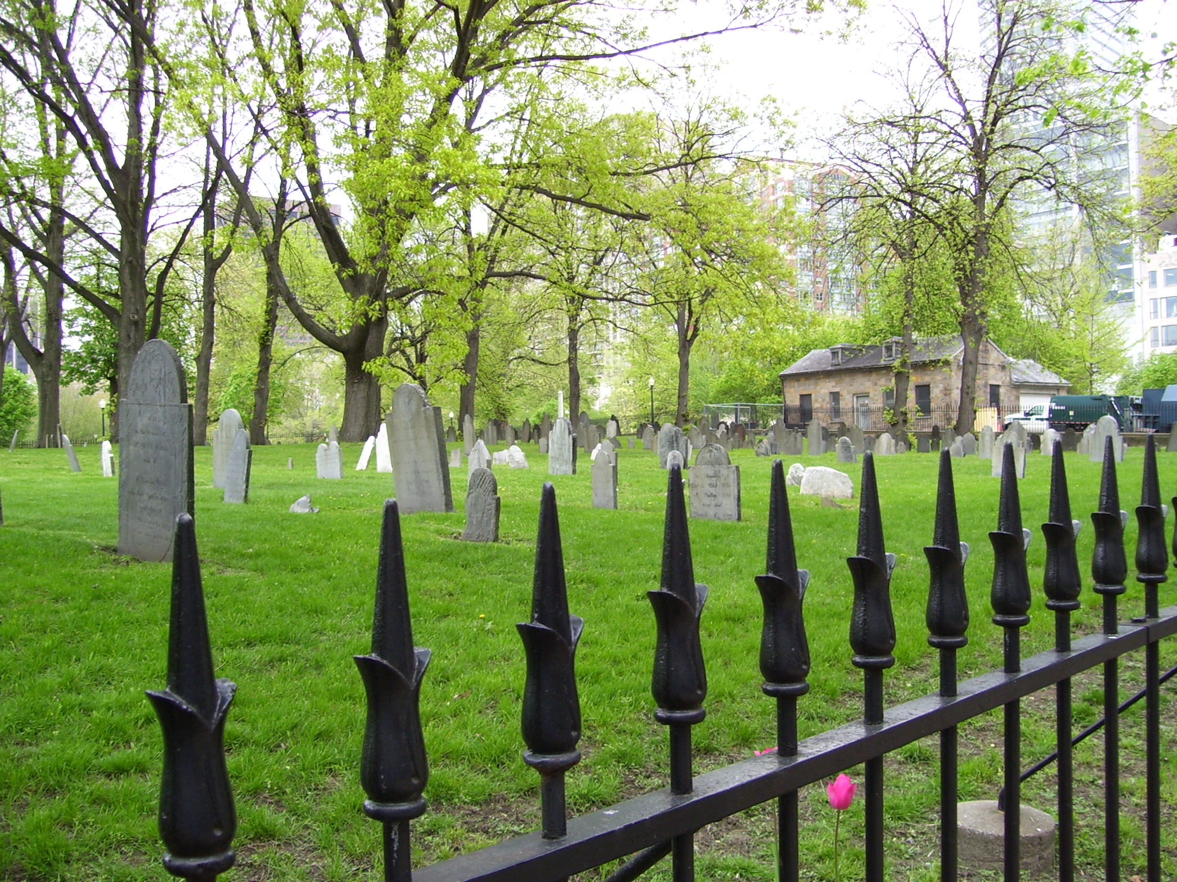 20 historic Greater Boston cemeteries, mapped.