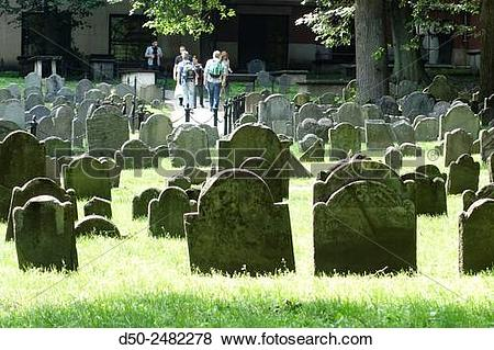 Pictures of BOSTON MA. USA. Granary Burying ground, Tremont Street.