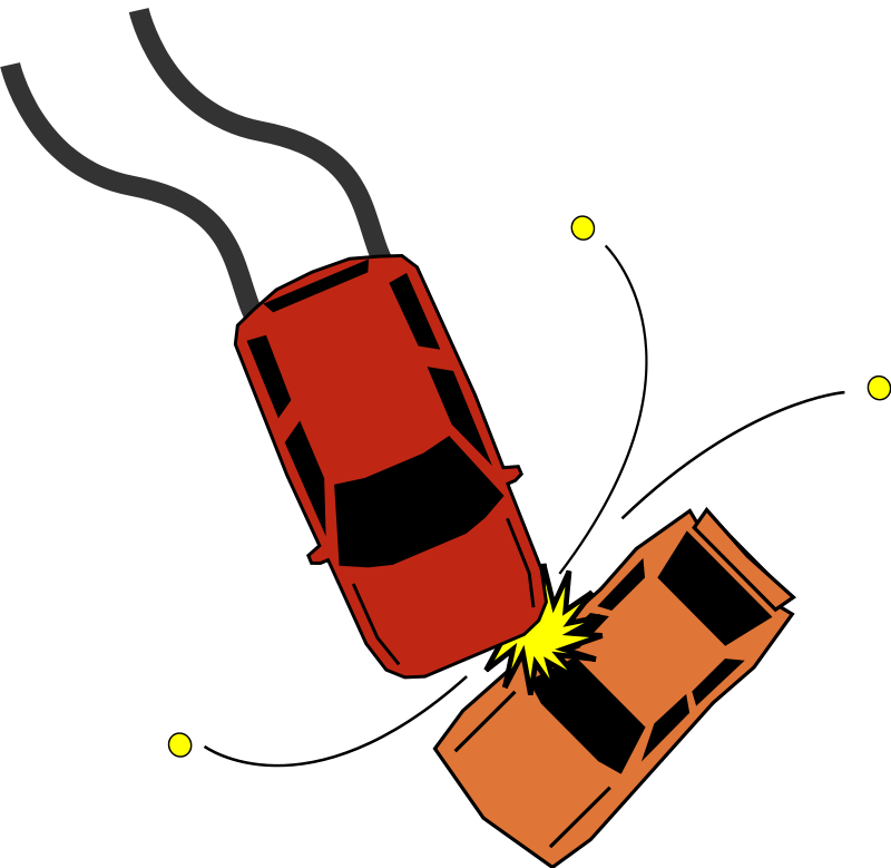 Car accident clipart.