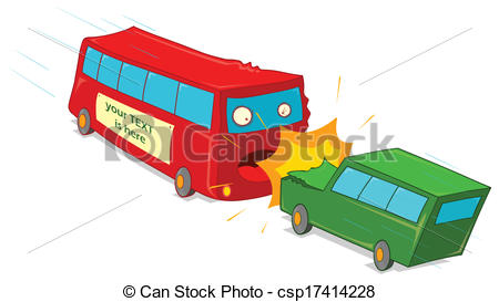 Bus accident clipart.