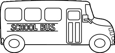 School bus black and white clip art.
