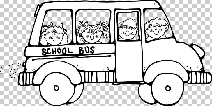School Bus Black And White PNG, Clipart, Automotive Design, Black.