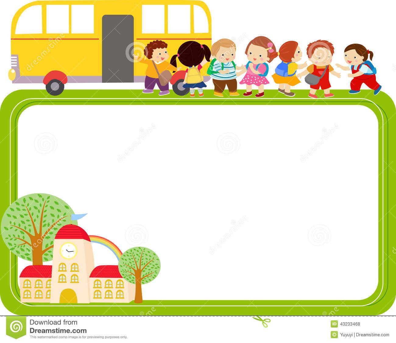 Bus clipart border, Bus border Transparent FREE for download.
