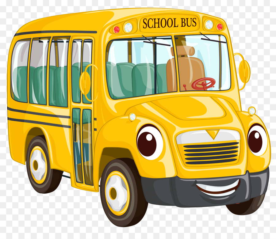 School Bus Cartoon clipart.