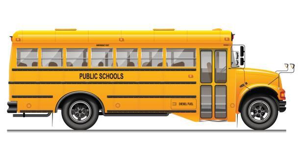 Best School Bus Illustrations, Royalty.