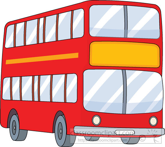 double decker red bus clipart.