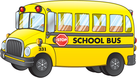 School bus clip art for kids.