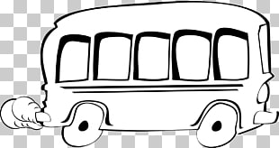 6 school Bus Outline PNG cliparts for free download.