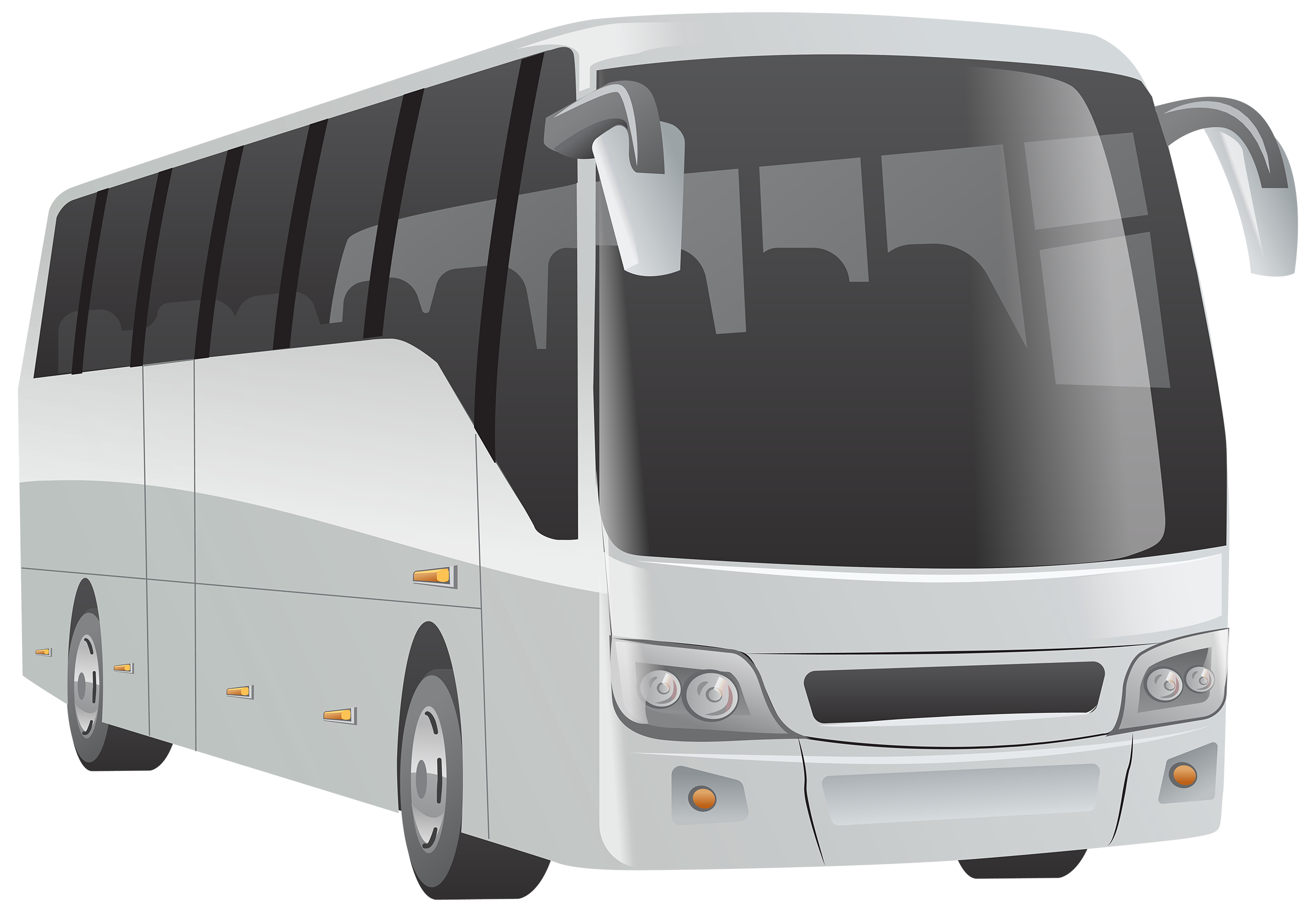 White Bus PNG Clipart.