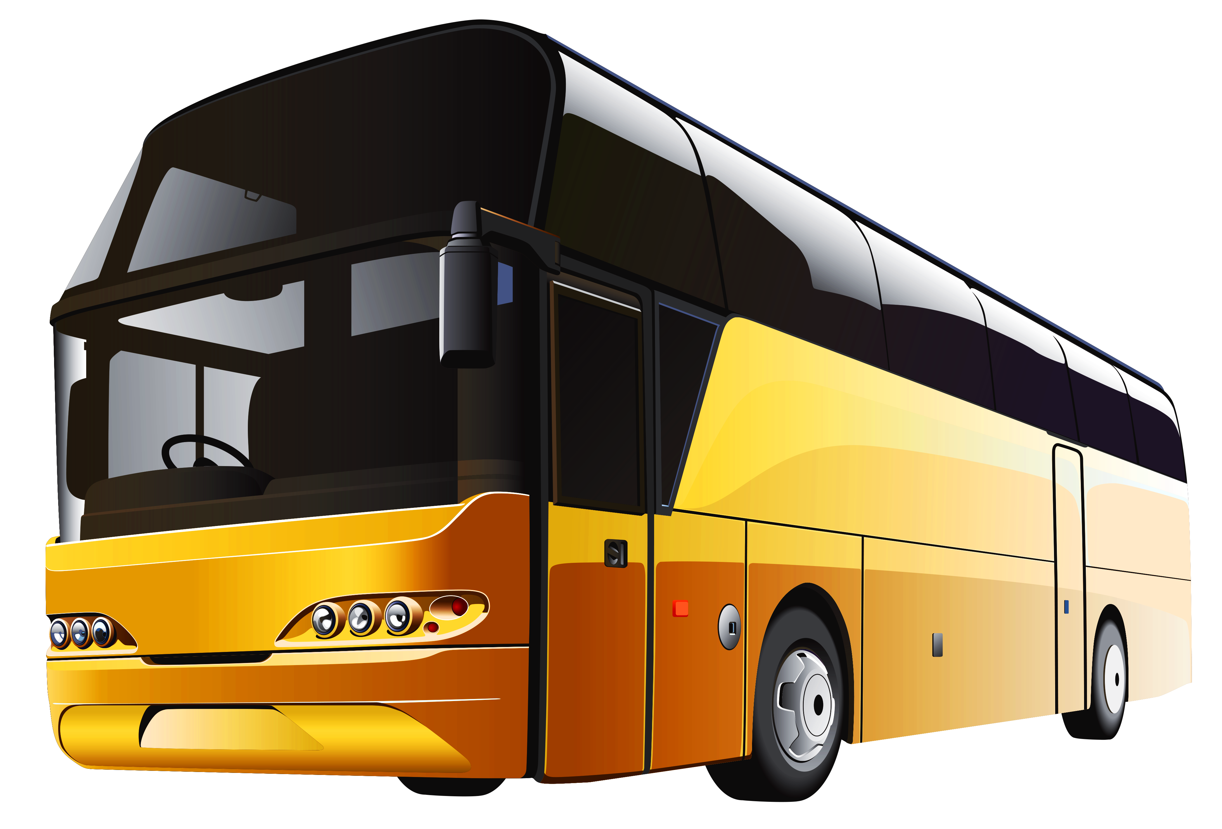 Yellow Bus PNG Clipart.
