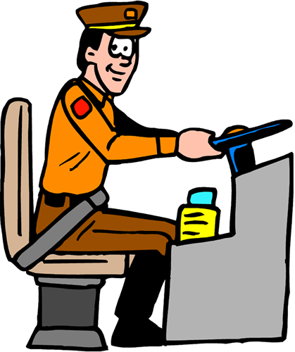 Bus Conductor Clipart.
