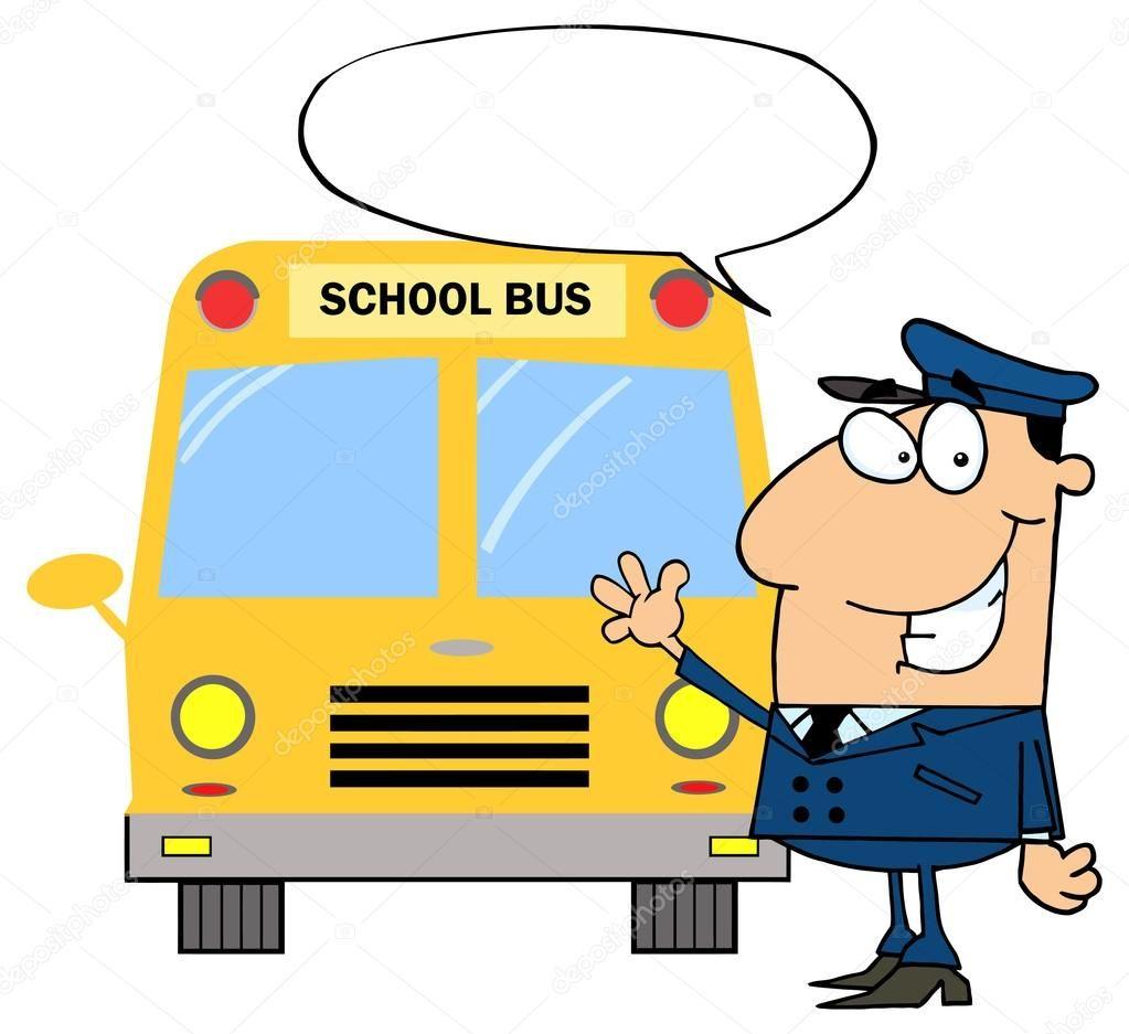 Cartoon school bus driver — Stock Vector © HitToon #61082353.
