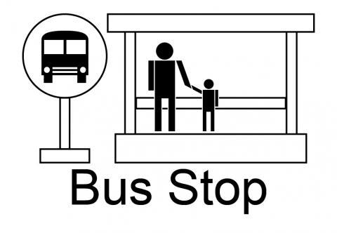 Bus Stop Symbol Clipart Best #P1PTSQ.