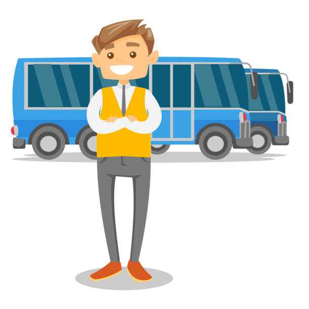 City Bus Driver Illustrations, Royalty.