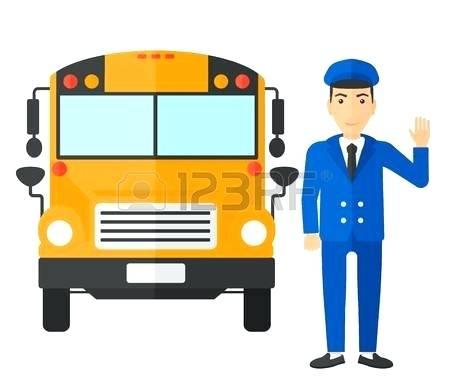 bus driver clipart.