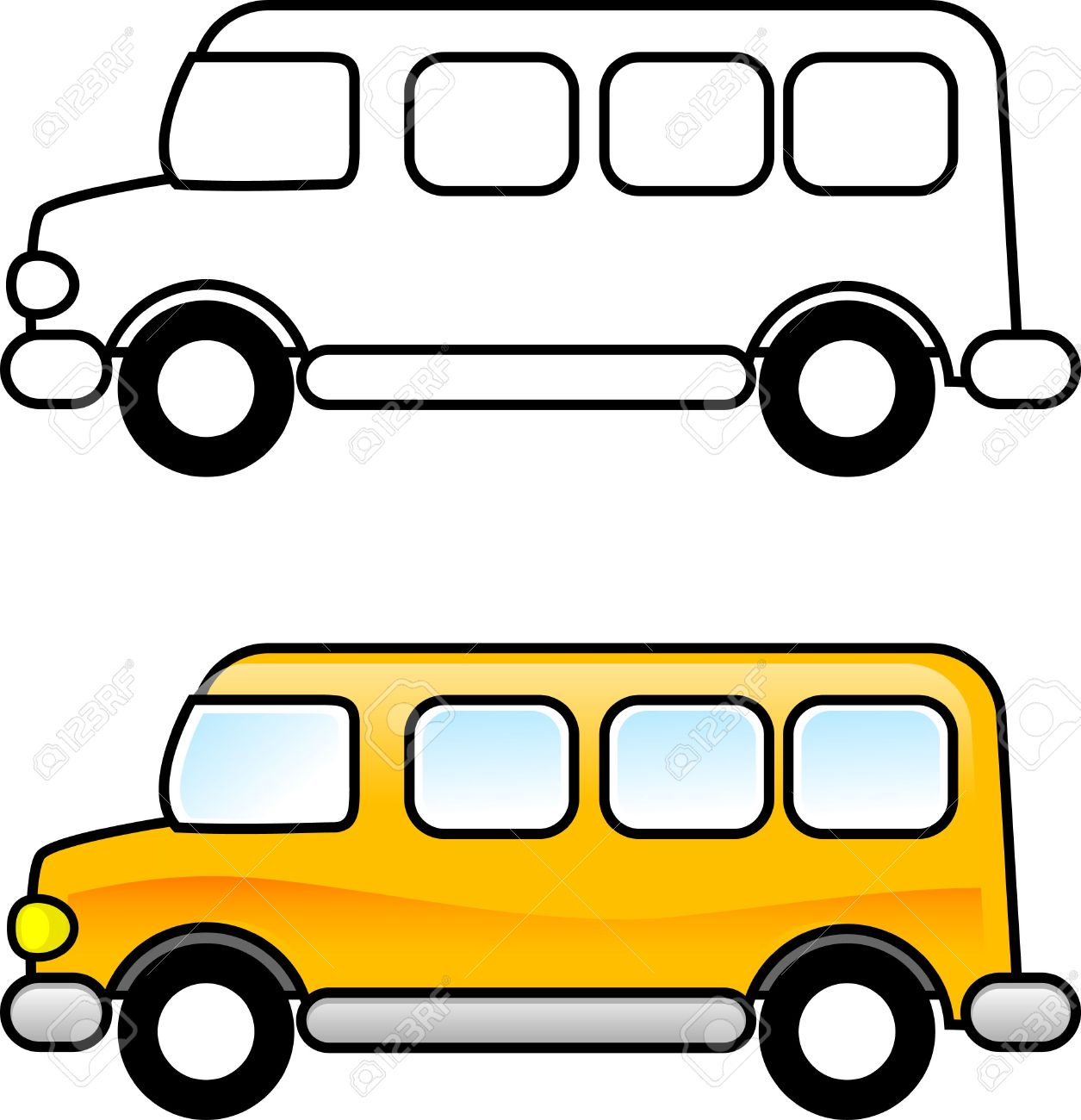 Bus Clipart for you.