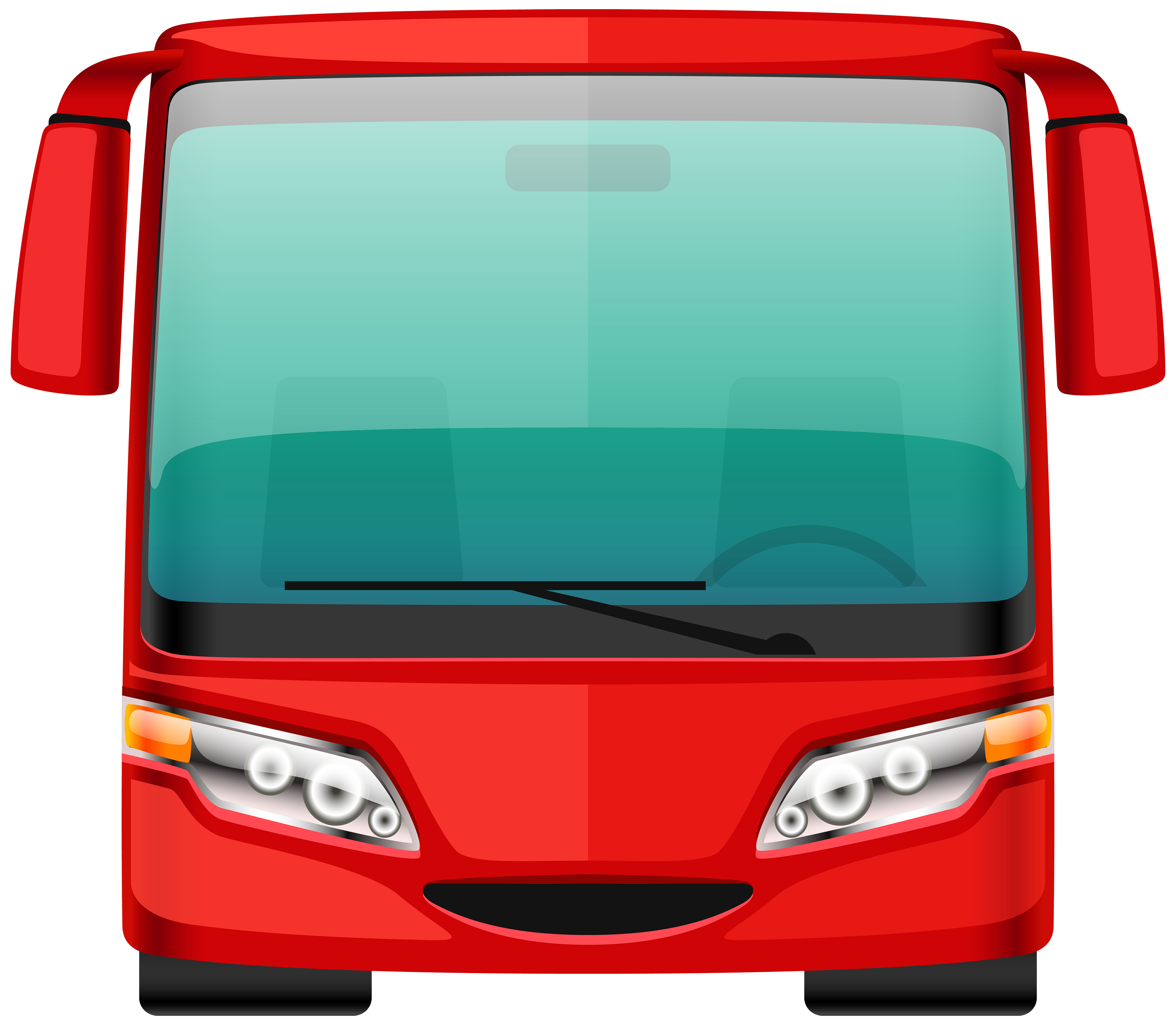 Front Of Bus Clipart.